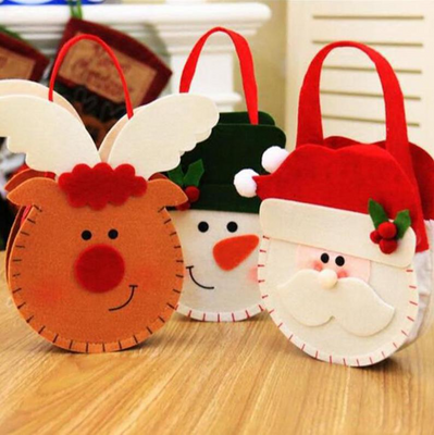 1pc Christmas Red-nosed Reindeer Candy Gift Bags Xmas Noel  Elk Candy Bag Gift Bag Christmas Decorations