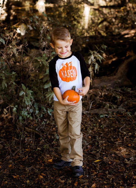 Pumpkin Shirt, Fall Shirt, Halloween Shirt, Thanksgiving Shirt, Personalized Shirt for Boys and Girls