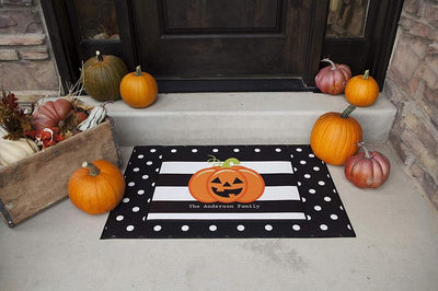Halloween Pumpkin Indoor or Outdoor Doormat