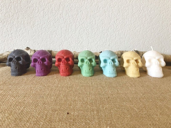 Skull Candle -Figurine Candle -Witchy Skull Candle -Halloween Candle        Update your settings