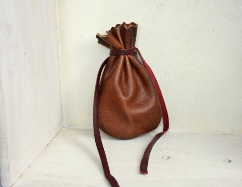 Leather Pouch | Gift Bag | Medicine Bag | Jewelry Pouch | Essential Oils |