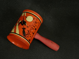 Hand painted vintage Halloween style noisemaker