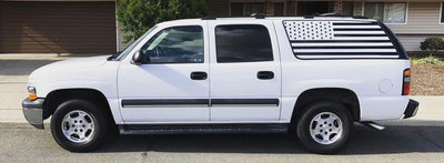 00-06 White Suburban//Yukon American Flag Decal - XL Chevy Gmc Stickers Vinyl Decals Accessories Window Custom Tahoe Flags Cadillac        Update your settings