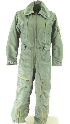 Vintage 50s CWU-1/P USAF Coverall Flying Small Flight Suit Sage Green Rayon Wool [H25S_4-5_Long]