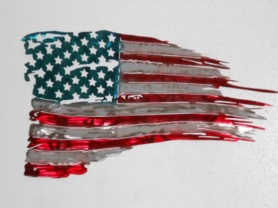 American Tattered Flag Wall Art