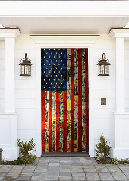 American Flag Door Decoration - Door Decor - Door Covers - Door Posters - Patriotic Door Covers - Door Decor Ideas - July 4th Door Covers