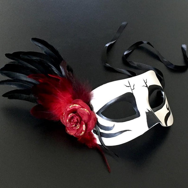 Halloween Party Black And White Dia De Los Muertos Mask
