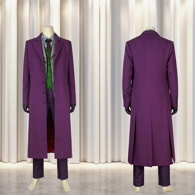 Joker Coat Costume Cosplay Batman The Dark Knight Rises Ver.1