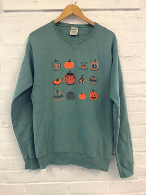 Pumpkin Sweatshirt, Halloween Sweatshirt, Screenprinted Sweatshirt        Update your settings