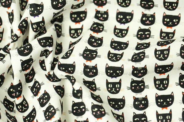 Black Cat Cotton Fabric