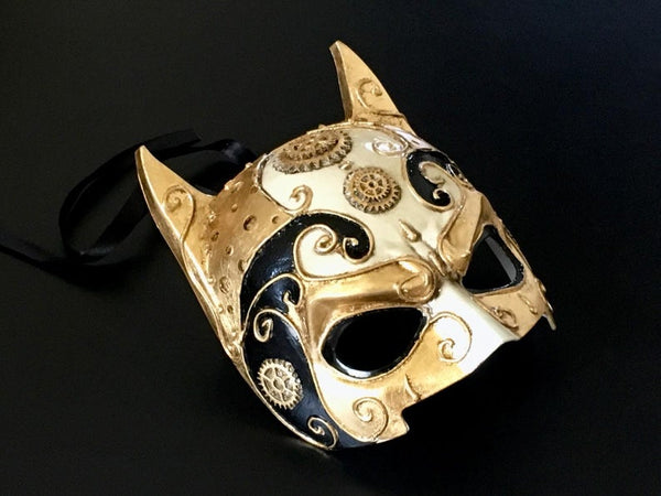 Halloween Party Black Gold Masquerade Mask