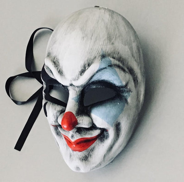 Halloween Party Blue Clown Masquerade Mask