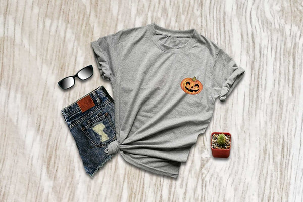 Pumpkin face cute halloween shirts jack o lantern shirt halloween print tshirt trendy fall fashion shirt vegetable foodie gift XS S M L XL