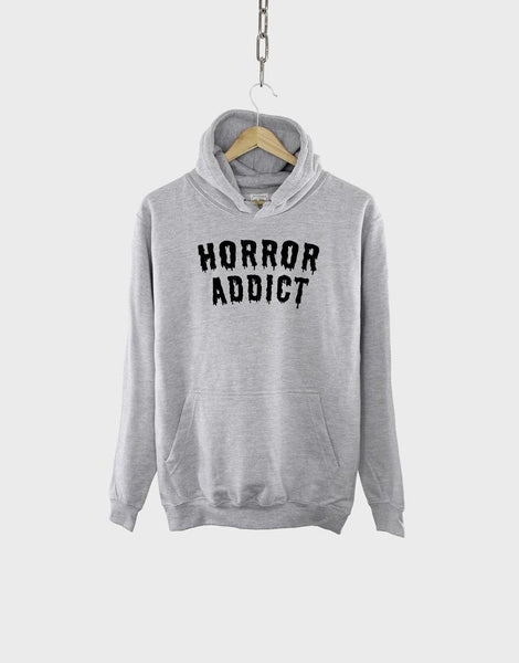 Horror Addict Hoodie / Funny Halloween Goth Sweatshirt        Update your settings