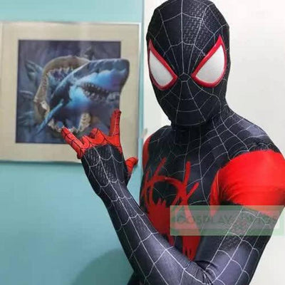 FREE SHIP Miles Morales Spider-Man Costume 3D Print for Adults