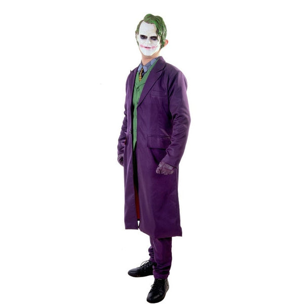 Batman The Dark Knight Joker Cosplay Suit Full Set Outfits Men's Halloween Costumes Fancy Dress Custom Made, Halloween Costume Mens, Jokers