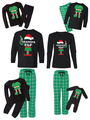 Family matching Green Pajamas Set | Stripe Print Tracksuit for Christmas