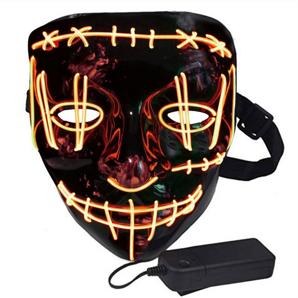 Halloween Costume LED Light Masks In Different Colors Glow In Dark