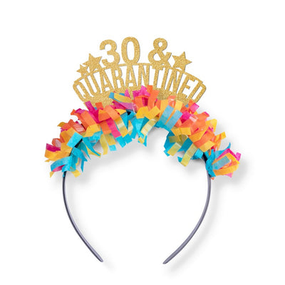 30th Birthday Gift for her - Funny Quarantine Gift - Dirty 30 - Social Distance Tiara - Self Isolation - 30th - 21st - 40th - 50th Birthday