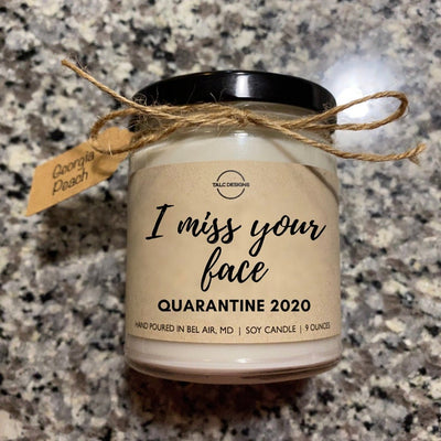 I Miss Your Face Candle 2020 | Quarantine 2020 Candle | Quarantine Gift | 100% Soy Candle | Natural Candle | Funny Candle | Candle Gift