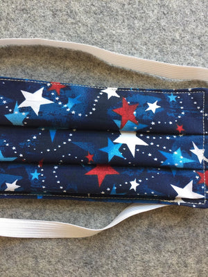 Adult Patriotic Stars  Face Mask