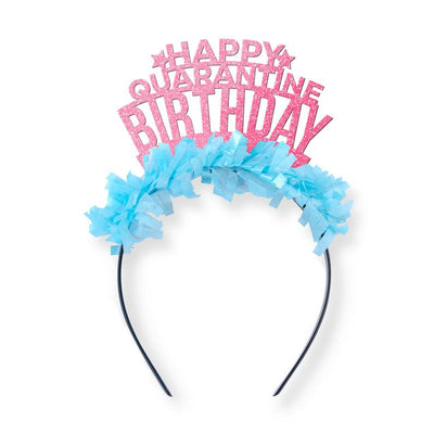 Quarantine Birthday Gift - Funny Birthday Party Decor - Social Distance Queen - Self Isolation - 30th - 21st - 40th - 50th Birthday Tiara -