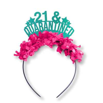 21st Birthday Quarantine Crown - Funny Birthday Gift for her - Social Distance Tiara - Self Isolation - 30th - 21st - 40th - 50th Birthday
