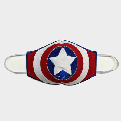 Patriotic Star Themed Face Mask | Captain America Mask | Reusable and Washable |  Kid and Adult Sizes Available