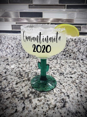Quarantine Gift|Margarita Glass| Personalized Gift| Gifts for her| Mother's Day Gift| Teacher Gift| Pandemic 2020