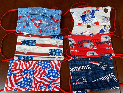 Patriotic & NE Patriots Face Mask  Face Covering