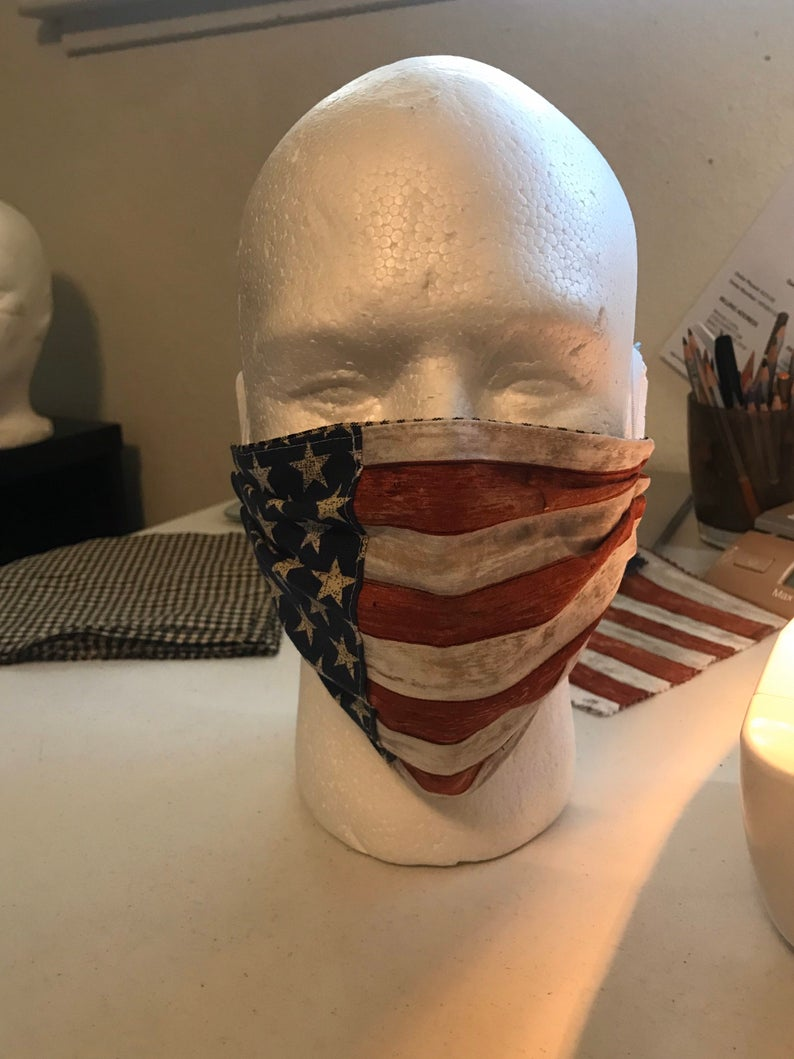 American Flag Face Mask - Adult