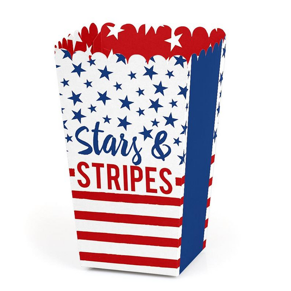 OurWarm 4th of July Decoration 10pcs Paper Firework Candy Boxes Stars and Stripes Gift Box Independance Day Party Supplies