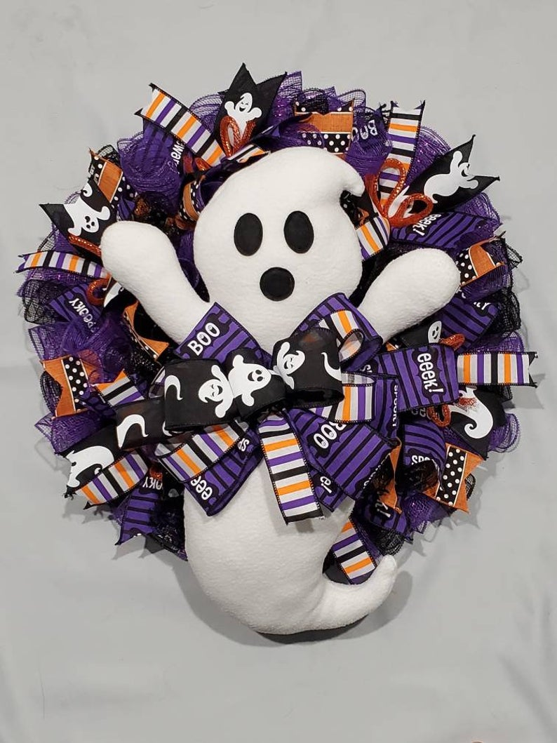 Buy Ghost Wreath Online The American Store Halloween Wreath Decor Onlineamericanstore