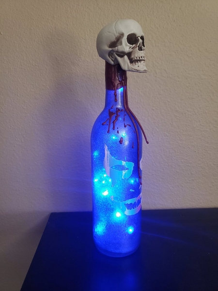 Scary Halloween lighted bottle, Halloween decor, Halloween gift, Halloween party, Halloween light, scary decoration, Halloween display,