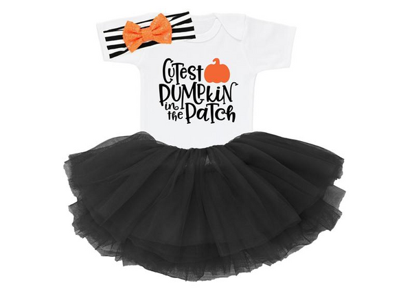 Cutest Pumpkin In The Patch, Baby Halloween Outfit, Baby First Halloween Outfit, Baby Halloween Costumes Girl, Baby Halloween Clothes HH1