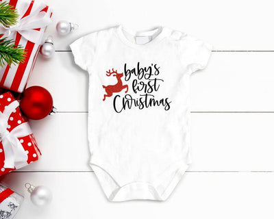 Baby's first Christmas bodysuit