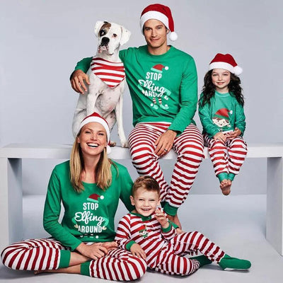 FAMILY MATCHING CHRISTMAS PAJAMAS SET XMAS ADULT MEN WOMEN BABY KIDS SLEEPWEAR NIGHTWEAR 2017 NEW HOT SALE FAMILY MATCH PJS SET