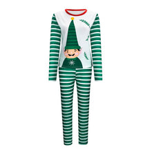 Emmababy Family Matching Clothes Christmas Pajamas Set Men's Women Kids Deer Sleepwear Striped Cute Cartoon Cotton Nightwear