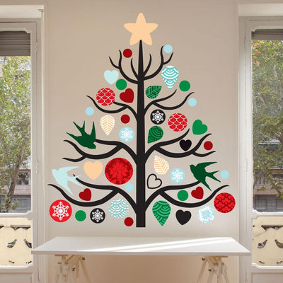 Merry Christmas Wall Decal - Christmas Decoration - Free Shipping on Domestic Orders - WB101