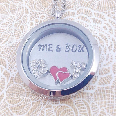 Me and You Floating Locket, Me and You Necklace, Wife Locket, Wife Necklace, Wife Anniversary Gift, Couples Locket, Bridal Shower Gift