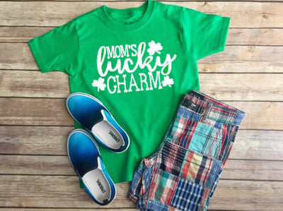Mom's Lucky Charm T-Shirt, Mom's Lucky Tee, Lucky Mom Shirt, St. Patrick's Day, Saint Patrick's Day, St. Patty's Day, Green Shirt