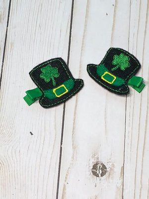 Saint Patrick's Day Hair Clip - St. Patty's Feltie Hair Clips -  St. Patrick's Day Felt Hair Clip