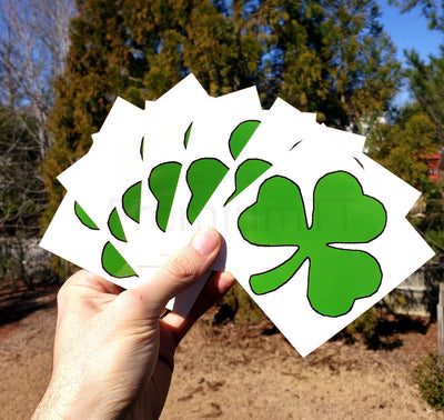 7 Large Shamrock Tattoos, Saint Patrick's Day Party Favors