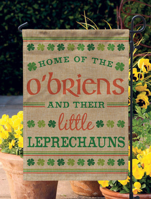 St. Patrick's Day Decor Custom Home,  Burlap Garden Flag,  Saint Patricks Day Decorations