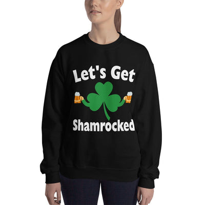 Saint Patricks Day Shirts Women Funny Let's Get Shamrocked Shirt Drinking Sweatshirt Drinking Shirts Shamrock Shirt Women Irish Shirt Funny