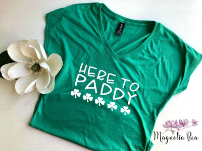St Patrick's Day Womens Shirt / Here to Paddy / St Patricks Day Tee / Saint Patrick's Day Womens Tee / Here to Party / Paddy Tee