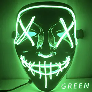 Halloween Mask LED Light Up Party Masks The Purge Election Year Great Funny Masks Festival Cosplay Costume Supplies Glow In Dark