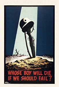 "American propaganda poster ""Whose Boy Will Die if We Should Fail?"" WW2 US Military Wall Art Decor for home - USA Patriotic motivation prints"