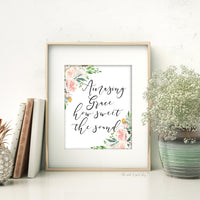 amazing grace how sweet the sound french cottage decor printable wall art