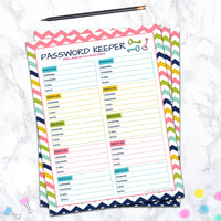 editable password keeper log printable